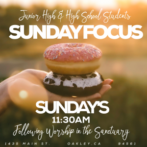 For 6th-12th Grade Students, during 2nd service after worship in the sanctuary.